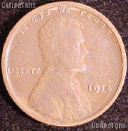 1914 Wheat Penny Lincoln Wheat Cent Circulated G-4 or Better