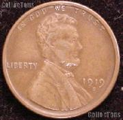 1919-S Wheat Penny Lincoln Wheat Cent Circulated G-4 or Better