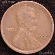 1920-D Wheat Penny Lincoln Wheat Cent Circulated G-4 or Better