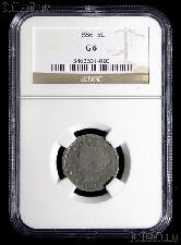 1886 Liberty Head V Nickel KEY DATE in NGC G 6