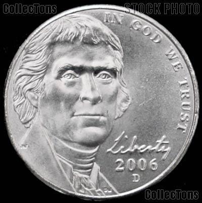 2006-D Jefferson Nickel Gem BU (Brilliant Uncirculated)