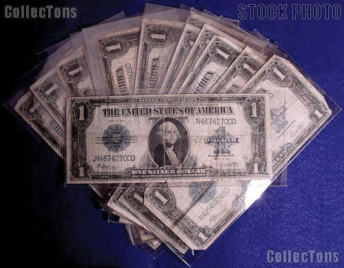 One Dollar Bill Large Size Blue Seal Silver Certificate 1923 $1