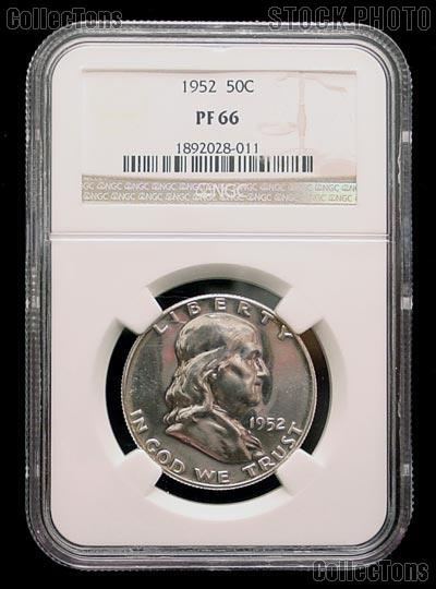 1952 Franklin Proof Silver Half Dollar in NGC PF 66