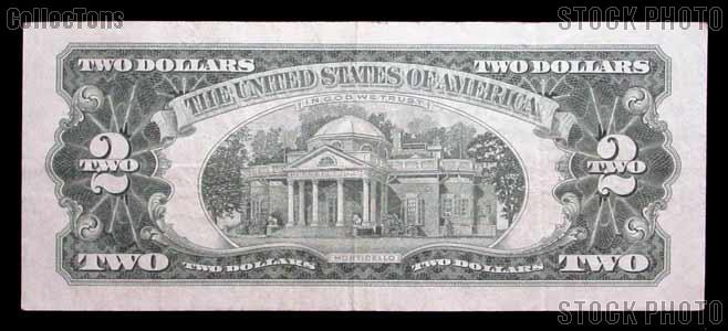 Two Dollar Bill Red Seal Series 1963 US Currency Good or Better