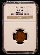 1909-S VDB Lincoln Wheat Cent KEY DATE in NGC F 12 BN (Brown)