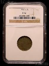 1912-S Liberty Head V Nickel KEY DATE in NGC F 12
