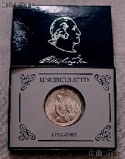 1982-D George Washington 250th Anniversary of Birth Commemorative Uncirculated Silver Half Dollar