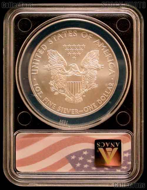 2009 American Silver Eagle Dollar in ANACS MS 70