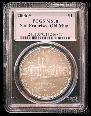 2006-S San Francisco Old Mint Centennial Commemorative Silver Dollar Coin in PCGS MS 70