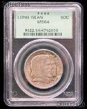1936 Long Island Tercentenary Silver Commemorative Half Dollar in PCGS MS 64