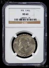 1951-S Franklin Silver Half Dollar in NGC MS 63