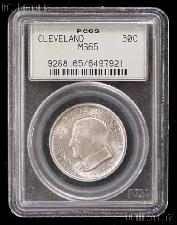 1936 Cleveland Centennial Great Lakes Exposition Silver Commemorative Half Dollar in PCGS MS 65