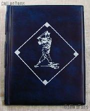 Baseball Card Album 4-Pocket Pages Blue by BCW Team Set Folder