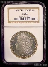 1878 7TF Rev of 78 Morgan Silver Dollar in NGC MS 64
