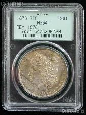 1878 7TF Rev of 78 Morgan Silver Dollar in PCGS MS 64