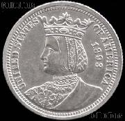 """Isabella Quarter"" World's Columbian Exposition Commemorative Silver Coin (1893) in XF+ Condition"