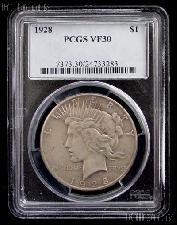 1928 Peace Silver Dollar KEY DATE in PCGS VF 30