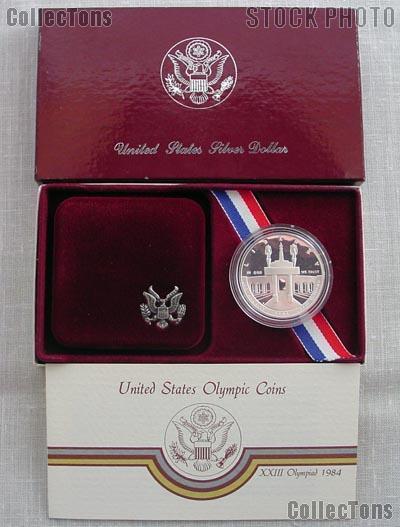 1983-S Proof Olympic Discus US Commemorative Silver Dollar PCGS PR69DCAM