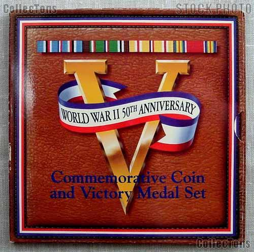 World War II 50th Anniversary Commemorative Coin and Victory Medal Set 1993