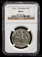 1936-D San Diego California Pacific International Exposition Silver Commemorative Half Dollar Coin in NGC MS 65