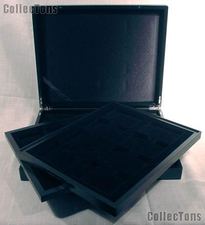 Holds PCGS//NGC//ICG /& More Coin Box 20 Slab Storage and Display Box Aluminum