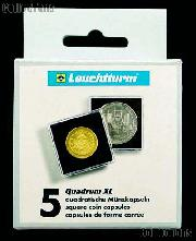 Coin Holder 44mm by Lighthouse (QUADRUM XL 44) 5 Pack of 44mm 2.5x2.5 Plastic Coin Holders