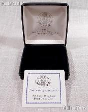 1999 Susan B Anthony SBA PROOF Dollar Coin OGP Replacement Box and COA