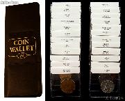 World Coin Starter Set with 24 Coins from 24 Different Countries in Coin Wallet