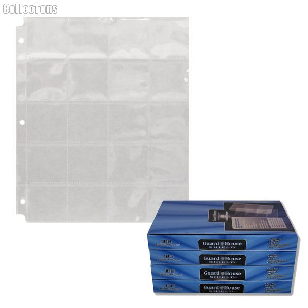 12 Pocket Binder Pages for 2.5 x 2.5 Coin Holder Flips Heavy Duty Vinyl 25