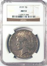 1928 Peace Silver Dollar KEY DATE in NGC AU 53