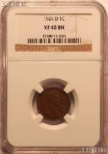 1924-D Lincoln Wheat Cent KEY DATE in NGC XF 40 BN (Brown)