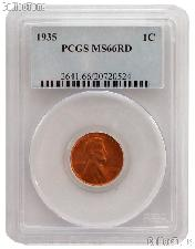 1935 Lincoln Wheat Cent in PCGS MS 66 RD