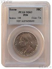 1934 Daniel Boone Bicentennial Silver Commemorative Half Dollar in PCGS MS 63