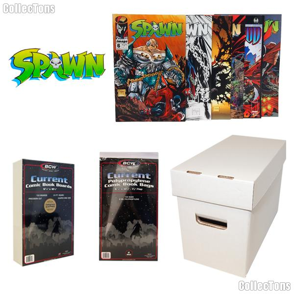 SPAWN Comic Book Collecting Starter Set Kit with Box, Boards, Bags, and Comics