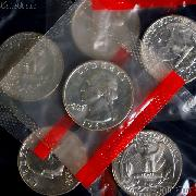 1963-D Washington Silver Quarter BU in Mint Cello