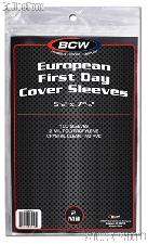 European First Day Cover Sleeves by BCW 100 Sleeves for European First Day Covers
