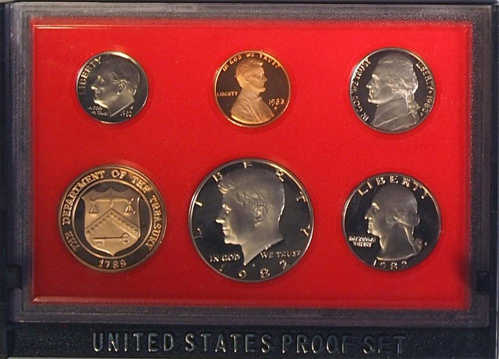 1982 PROOF SET * ORIGINAL * 5 Coin U.S. Mint Proof Set