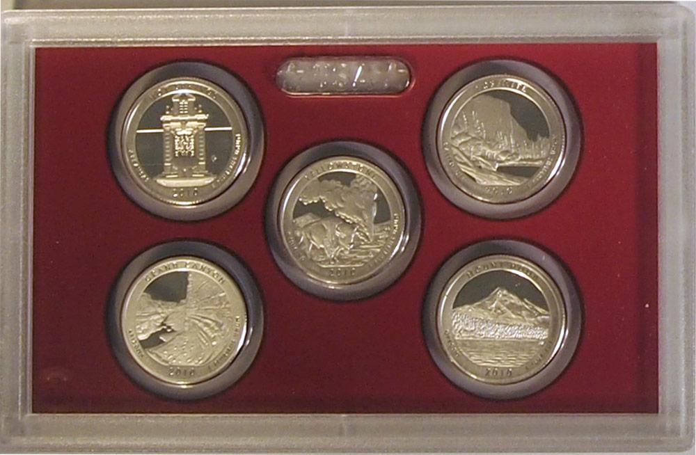 2010 SILVER QUARTER PROOF SET * 5 Coin U.S. Mint Proof Set