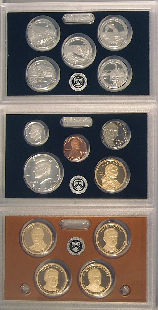 2014 SILVER PROOF SET * ORIGINAL * 14 Coin U.S. Mint Proof Set