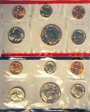 1989 Mint Set - All Original 10 Coin U.S. Mint Uncirculated Set