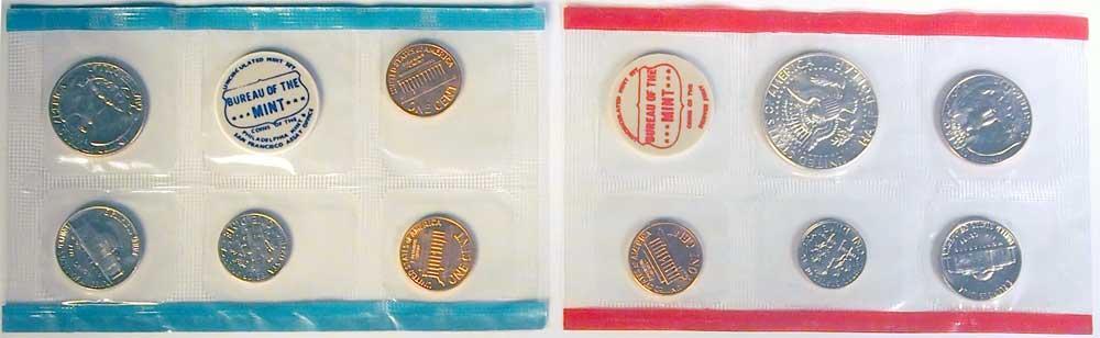 1969 Mint Set - All Original 10 Coin U.S. Mint Uncirculated Set