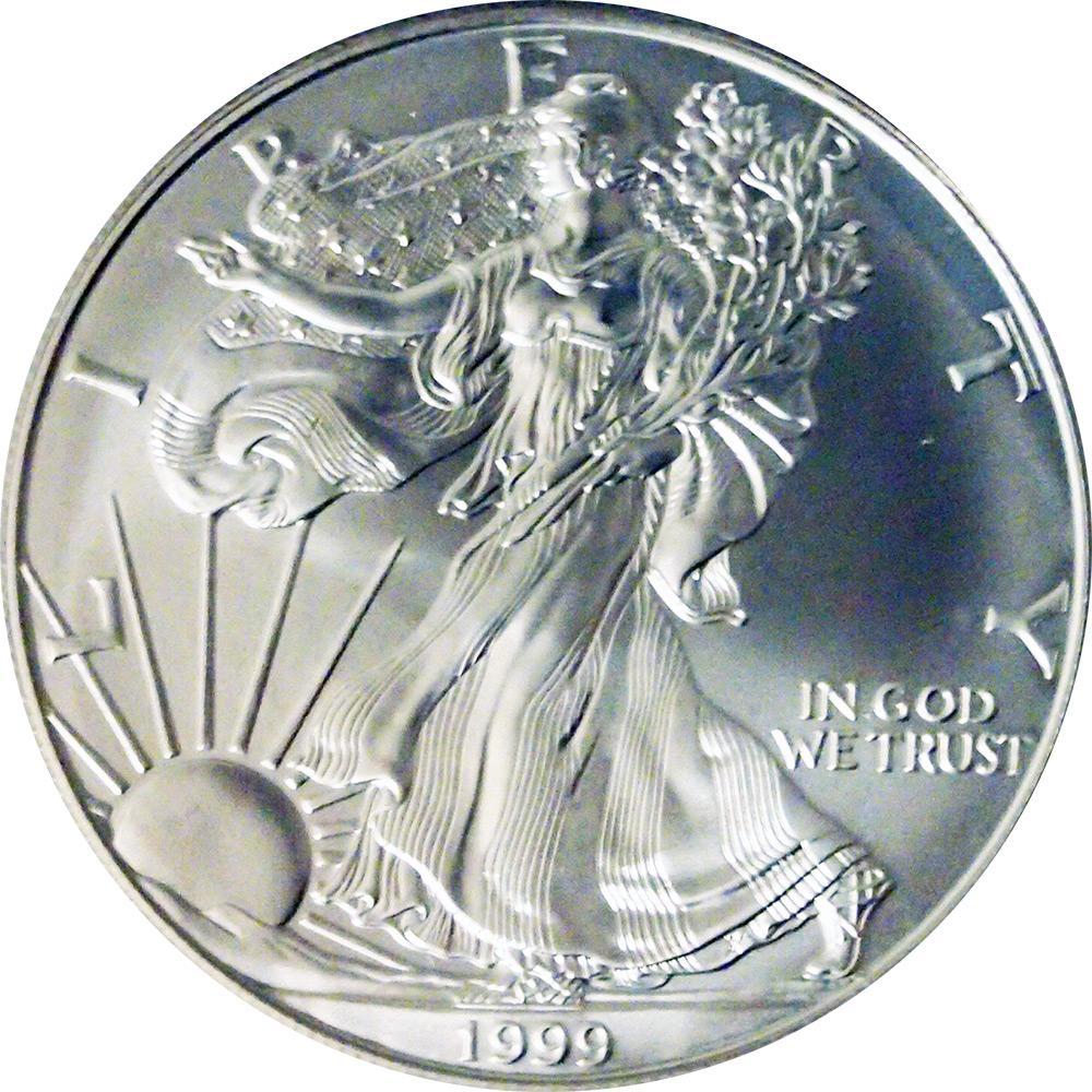 1999 American Silver Eagle Dollar Bu 1oz Silver