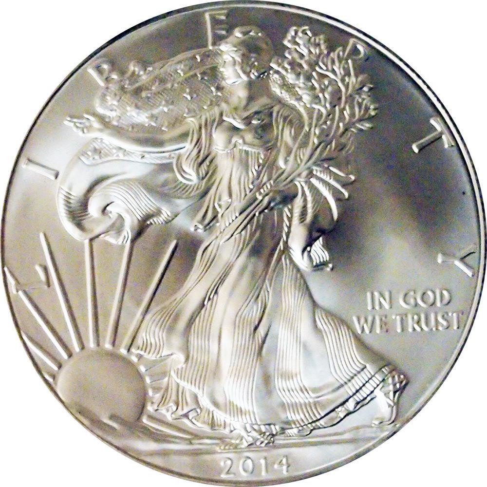 2014 American Silver Eagle Dollar BU