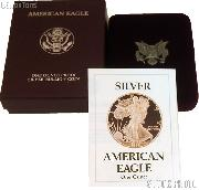 1988-S American Silver Eagle 1 oz Silver Proof Coin OGP Replacement Box and COA