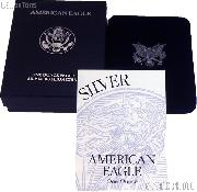 1994-P American Silver Eagle 1 oz Silver Proof Coin OGP Replacement Box and COA