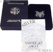1995-P American Silver Eagle 1 oz Silver Proof Coin OGP Replacement Box and COA