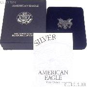 1996-P American Silver Eagle 1 oz Silver Proof Coin OGP Replacement Box and COA