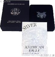 1998-P American Silver Eagle 1 oz Silver Proof Coin OGP Replacement Box and COA
