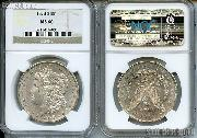 1878-S Morgan Silver Dollars in NGC MS 60