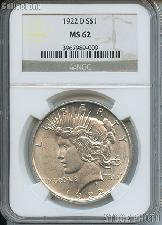 1922-D Peace Silver Dollar in NGC MS 62